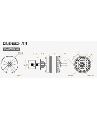 Wholesale 11pcs Dualsky XM6352DA Motor for Compettion with many KV to Choose