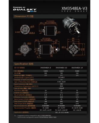 Wholesale 11pcs Dualsky XM3548EA 920KV 740KV 530KV V3 Motors for Airplane