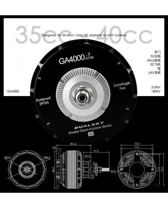 Wholesale 5pcs Dualsky GA4000 Motor 180KV 210KV for E-conversion of Gas Plane 35CC-40CC