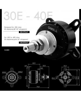 Wholesale 11pcs Dualsky GA800 Motor 550KV 850KV for E-conversion of Giant RC Plane