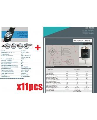 Wholesale 11pcs Dualsky TC.4A.30E Tuning Combo Motor + ESC