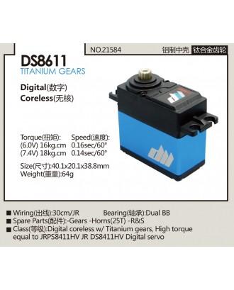 Wholesale Dualsky 11pcs DS8611 Digital Coreless Servo with Titanium Gears