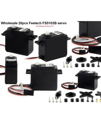 Wholesale 20pcs Feetech FS5103B Analog Servo 6V 3.2kg/ cm