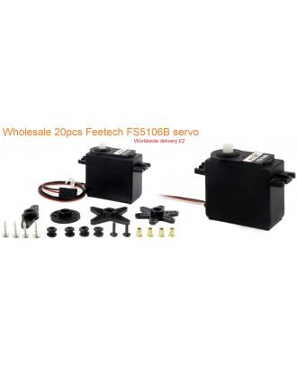 Wholesale 20pcs Feetech FS5106B Analog Servo 6V 6kg/ cm