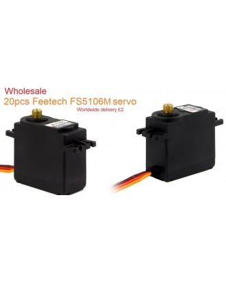 Wholesale 20pcs Feetech FS5106M 6V 7.5kg/cm Analog Servo