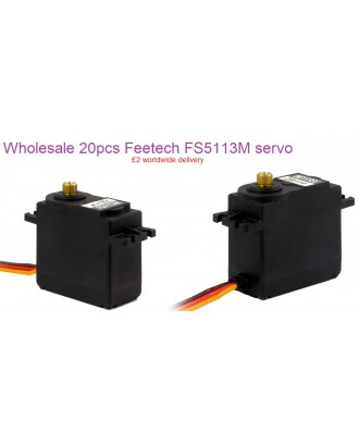 Wholesale 20pcs Feetech FS5113M 6V 13kg/cm Analog Servo