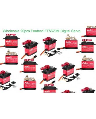 Wholesale 20pcs Feetech FT5320M 20Kg/cm Digital Servo 180 Degree
