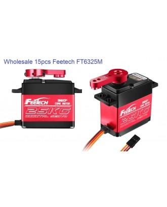 Wholesale 15pcs Feetech FT6325M Digital Servo 360 Degree 7.4V 25kg.cm