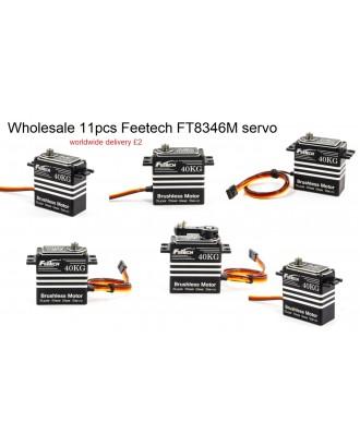 Wholesale 11pcs Feetech FT8346M High Torque 7.4V 40kg.cm digital 360 Servo